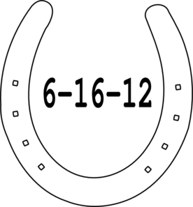 Horseshoe black and white clipart clipart kid.