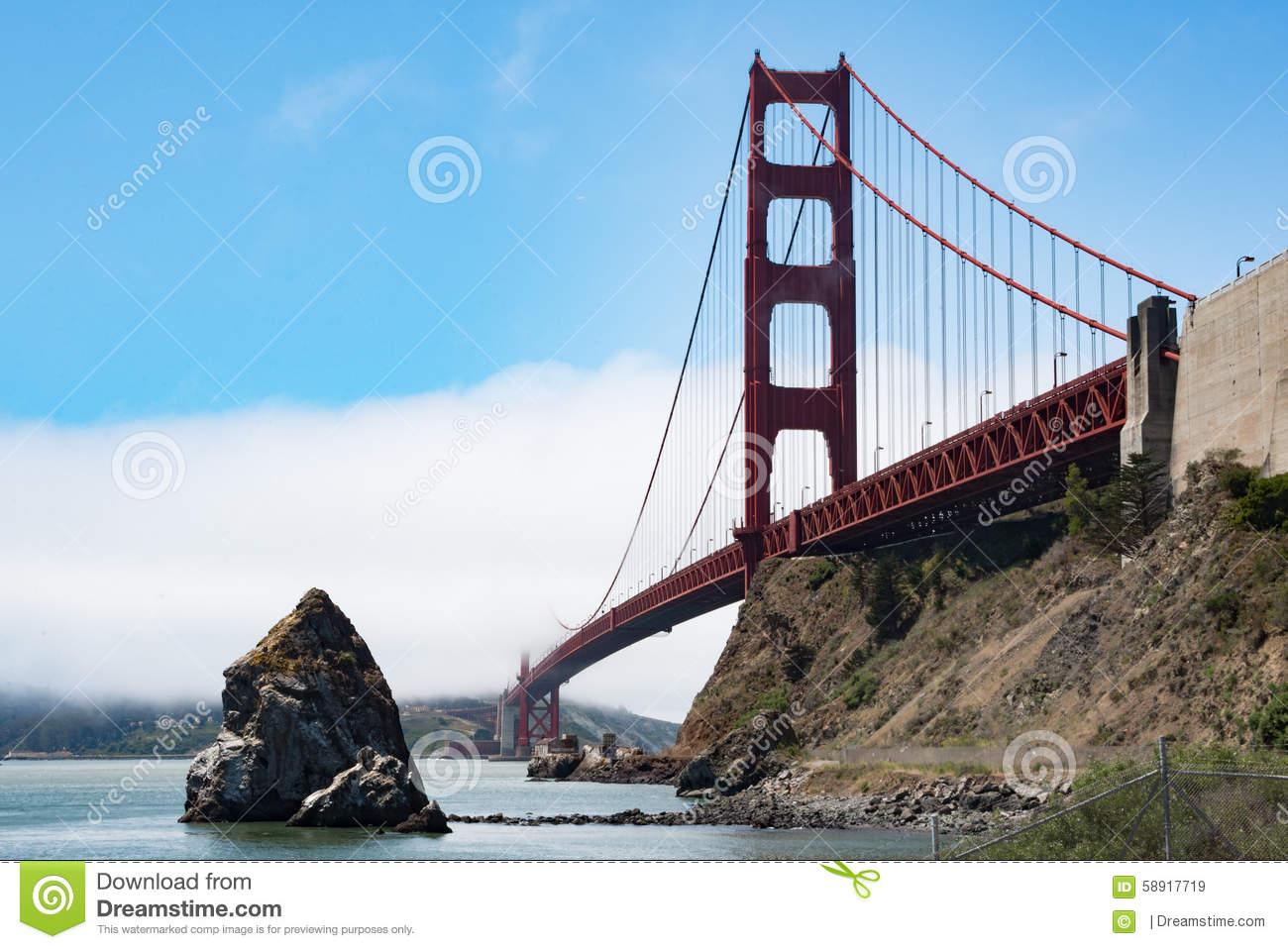 Golden Gate Bridge Stock Photo.