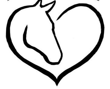 Horse head/heart possible tattoo.