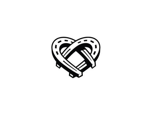 Horseshoe Heart Clip Art.