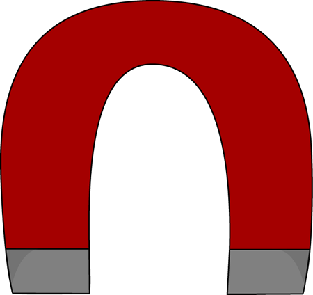 Horseshoe magnet clipart.