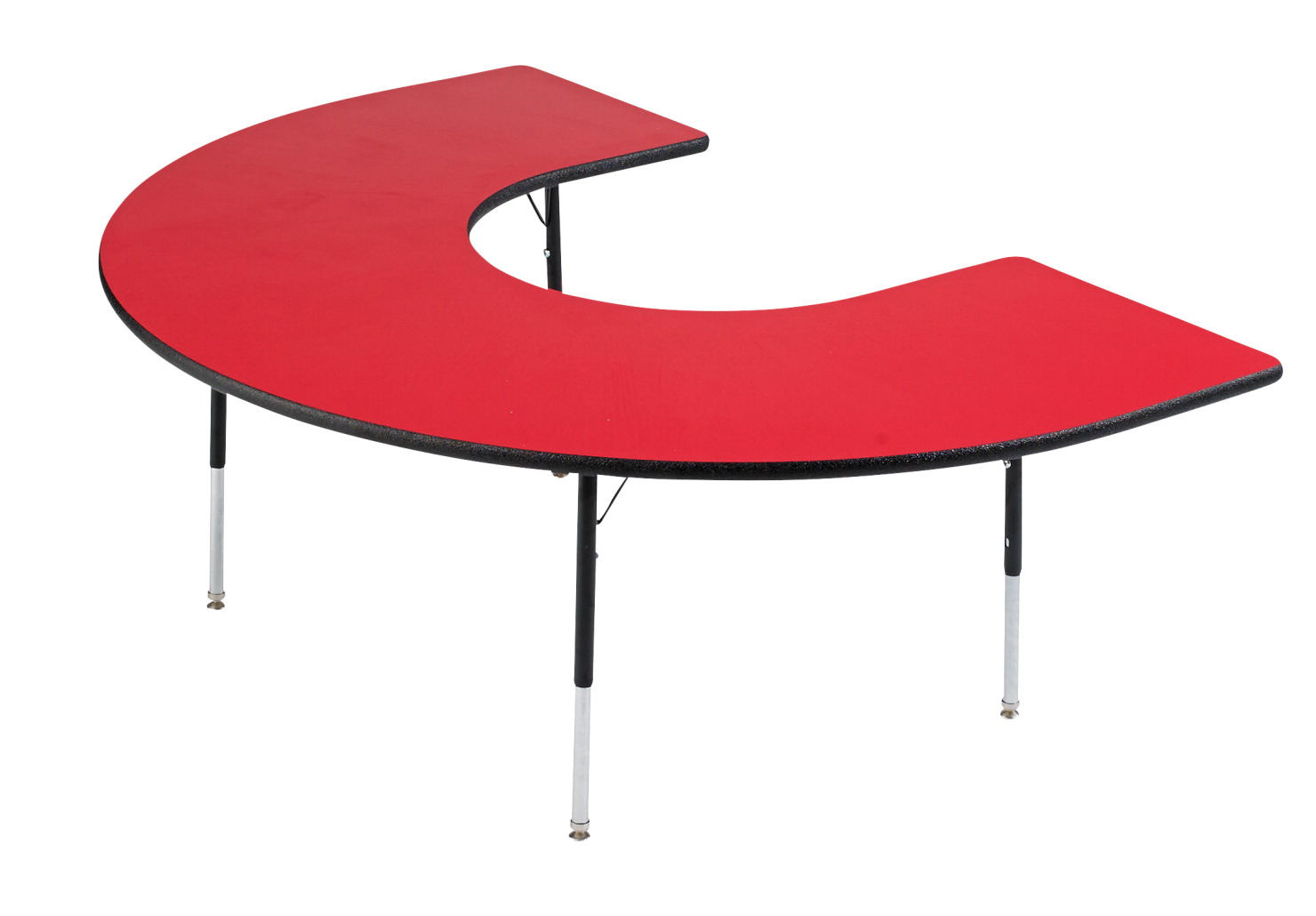 Classroom Select Adjustable Activity Table, Horseshoe, 60 x 66 Inches,  LockEdge, Various Options.