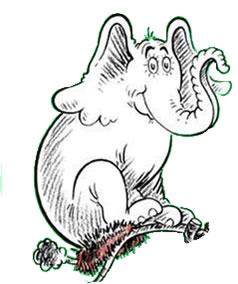 Horton the elephant clipart.