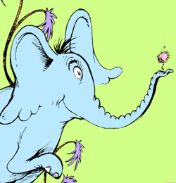 Clipart of horton and the elephant.