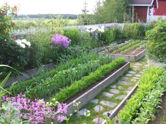 Potager garden, Gardens and Paths on Pinterest.