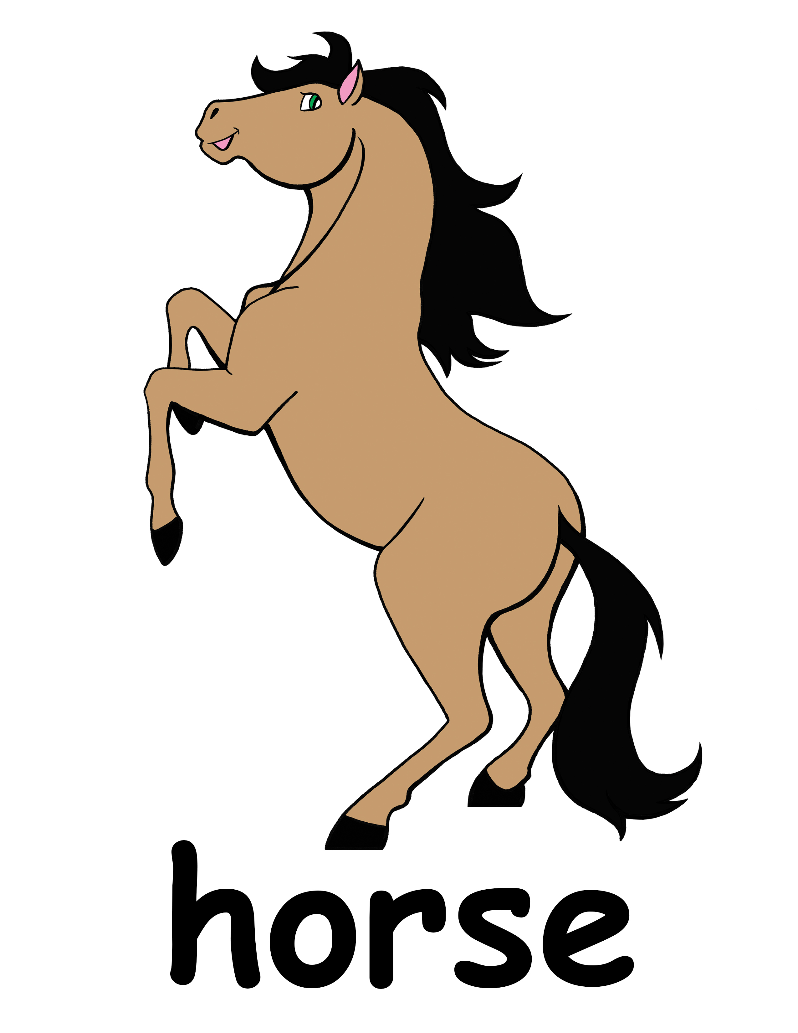 Horse clipart 8.