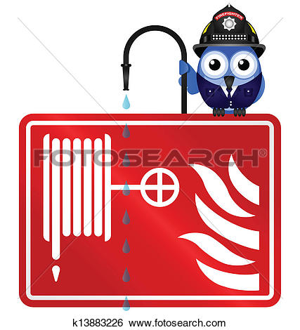 Clip Art of fire hose reel k13883226.