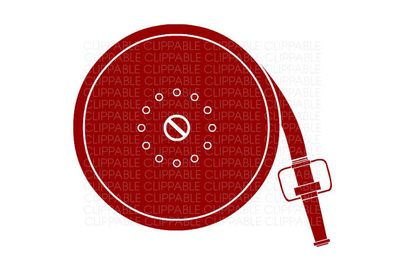 Fire hose reel clipart.