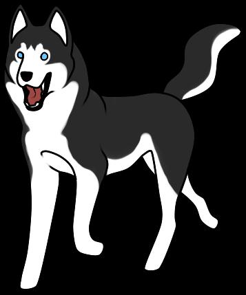 Huskies Clipart.