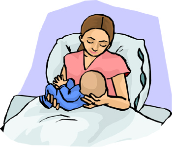 Mother And Baby In Hospital.