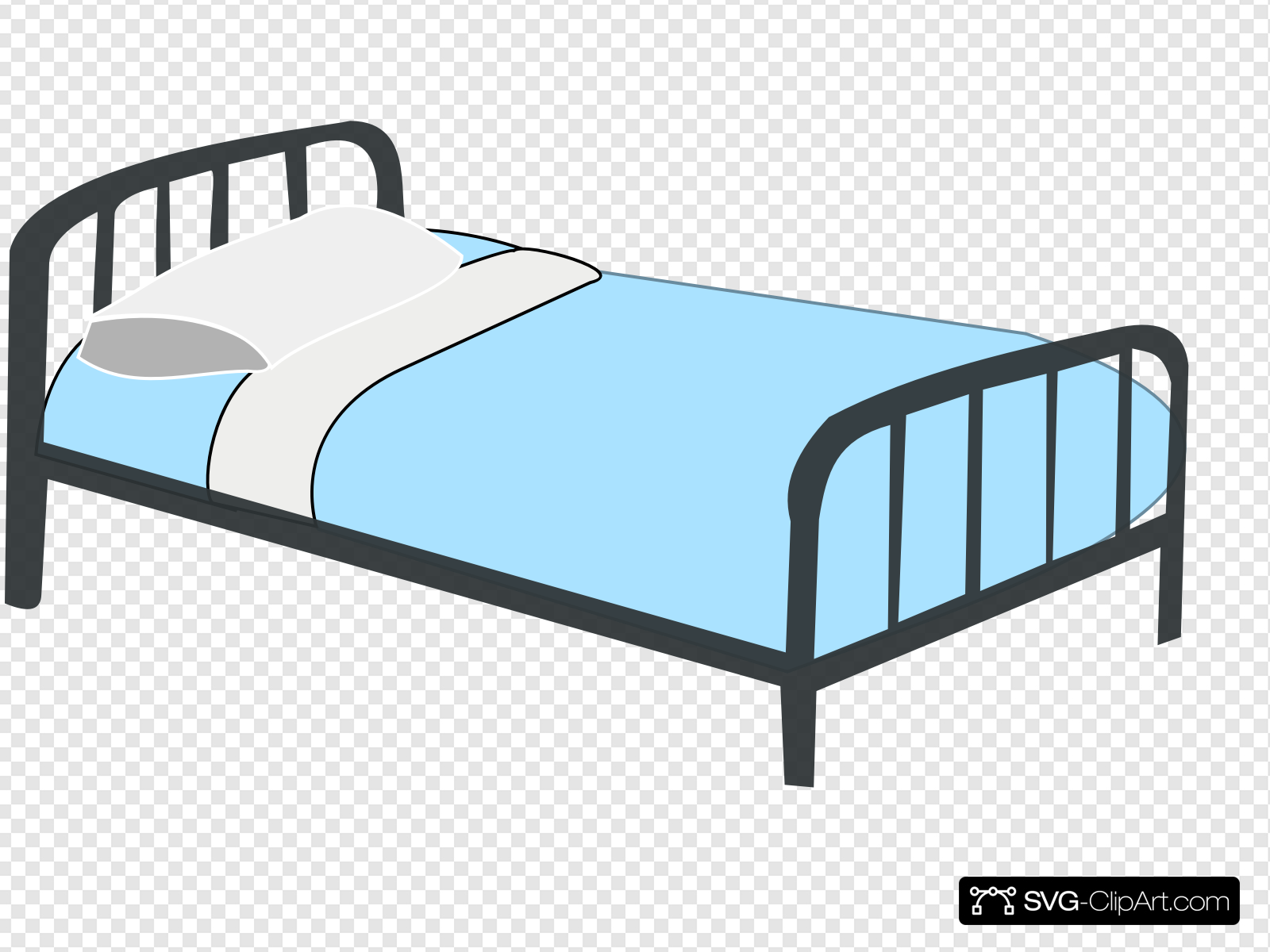 Hospital Bed Clip art, Icon and SVG.