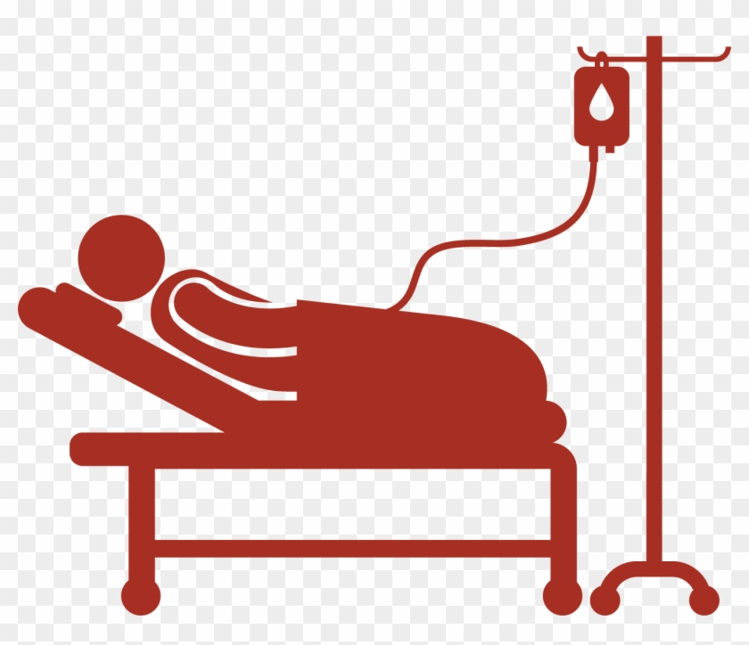 Svg Free Library Patient In Hospital Bed Clipart.