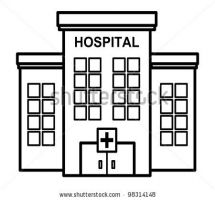 Hospital clipart black and white 1 » Clipart Station.