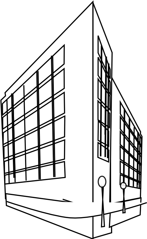 Hospital Building Drawing At Getdrawings.