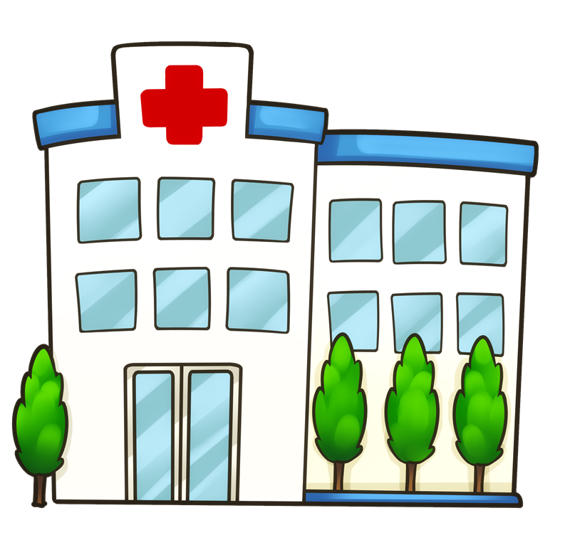 Hospital building clip art.