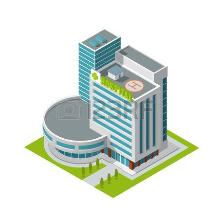6,953 Hospital Building Stock Vector Illustration And Royalty Free.
