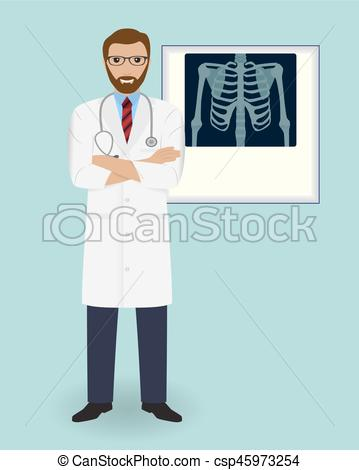 Clipart Vector of Doctor on a x.