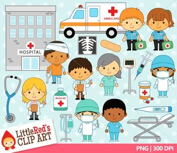 Hospital Workers Clipart.