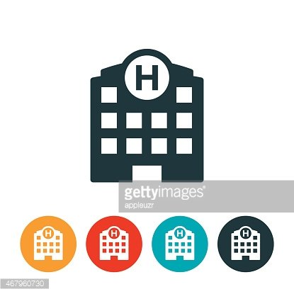Hospital Icon Clipart Image.