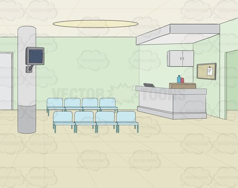 Empty waiting area in a hospital background #backcloth.