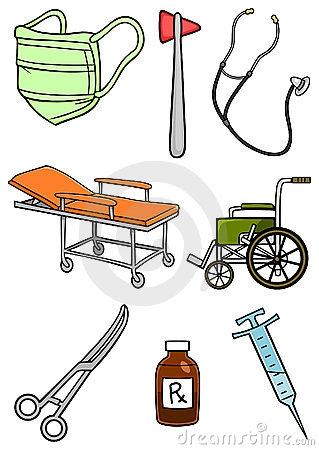 Hospital Items Clipart.