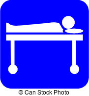 Vectors Illustration of hospital symbol csp13636871.