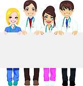 Clipart of Hospital Medical Team k17789775.