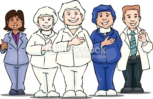 Hospital Group Vector Art.