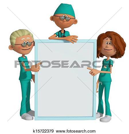 Stock Illustration of Hospital team k15722369.