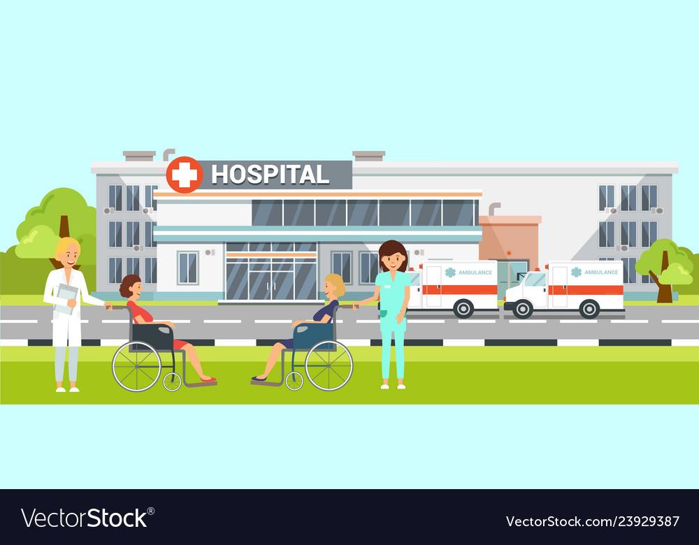 Medical help in hospital flat.