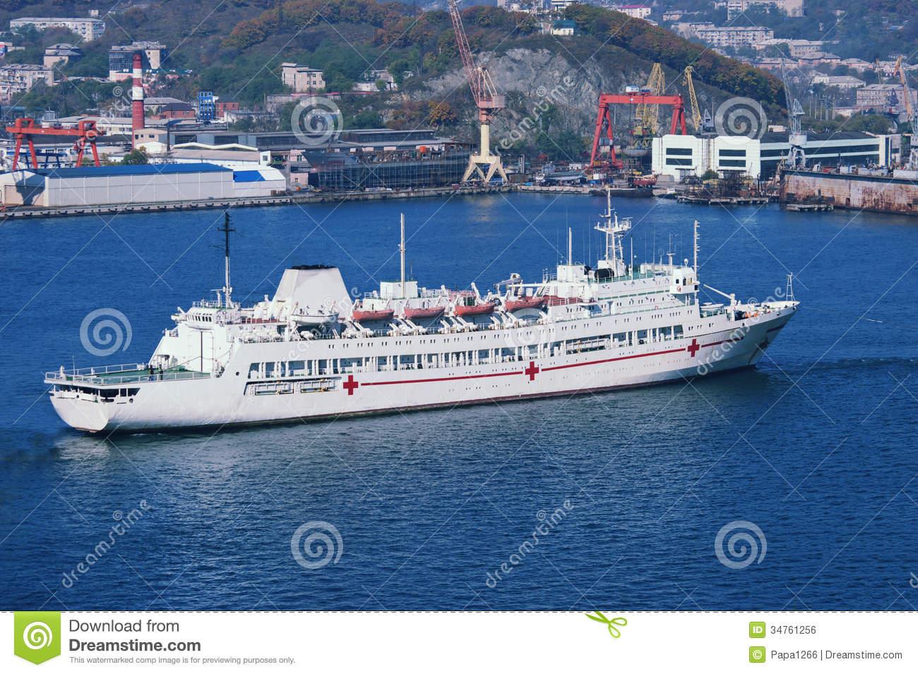 Hospital Ship Royalty Free Stock Image.