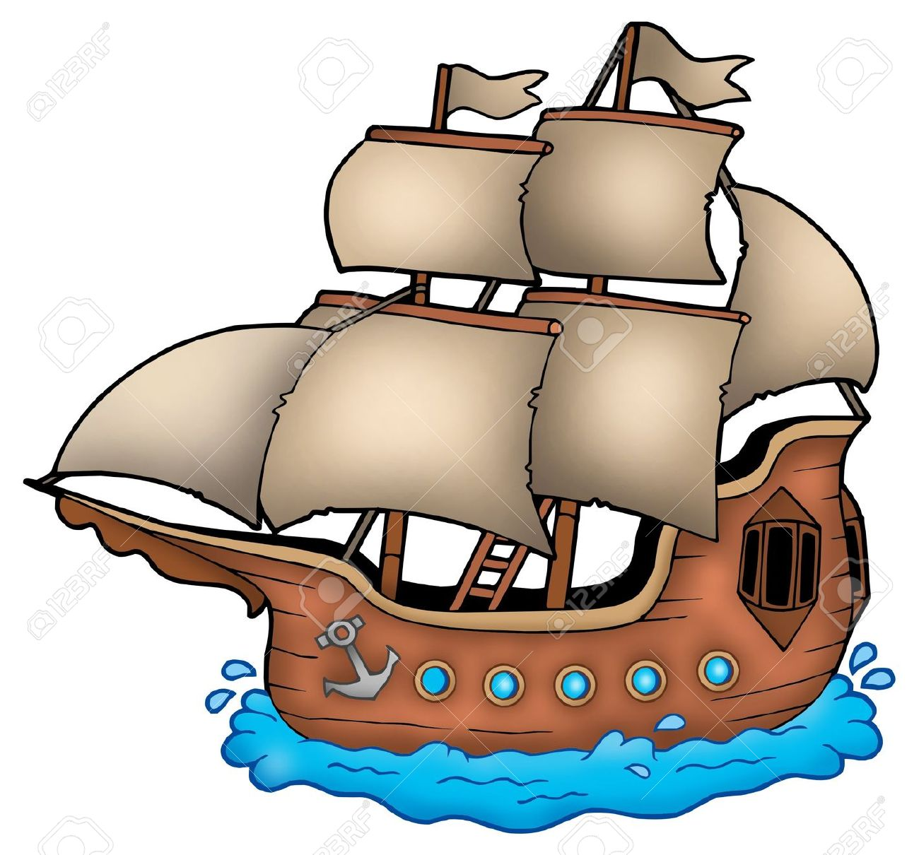 Francisco Pizarro Ships Clip Art.