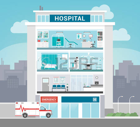 173,242 Hospital Stock Vector Illustration And Royalty Free.