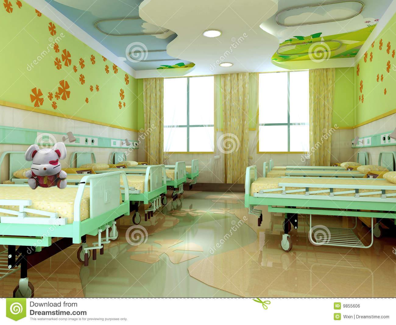 Hospital Ward Stock Illustrations.