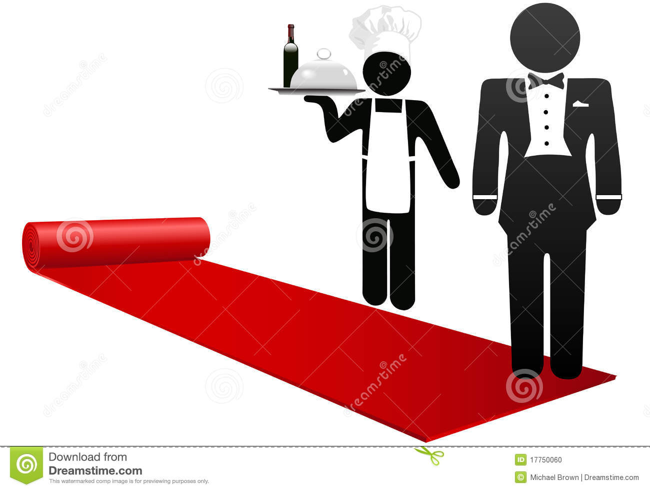 Hospitality Stock Illustrations.