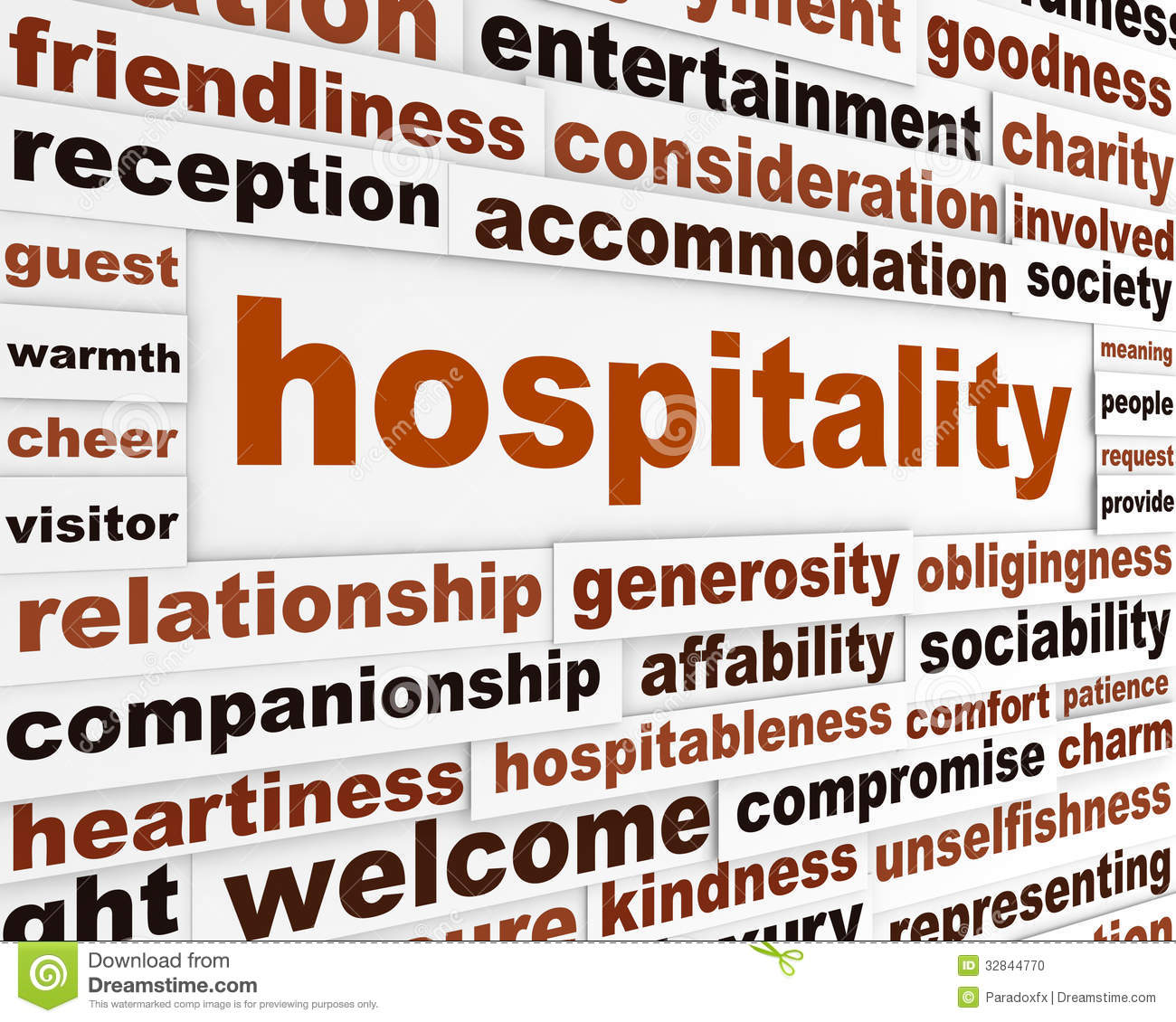 Hospitality Stock Illustrations.