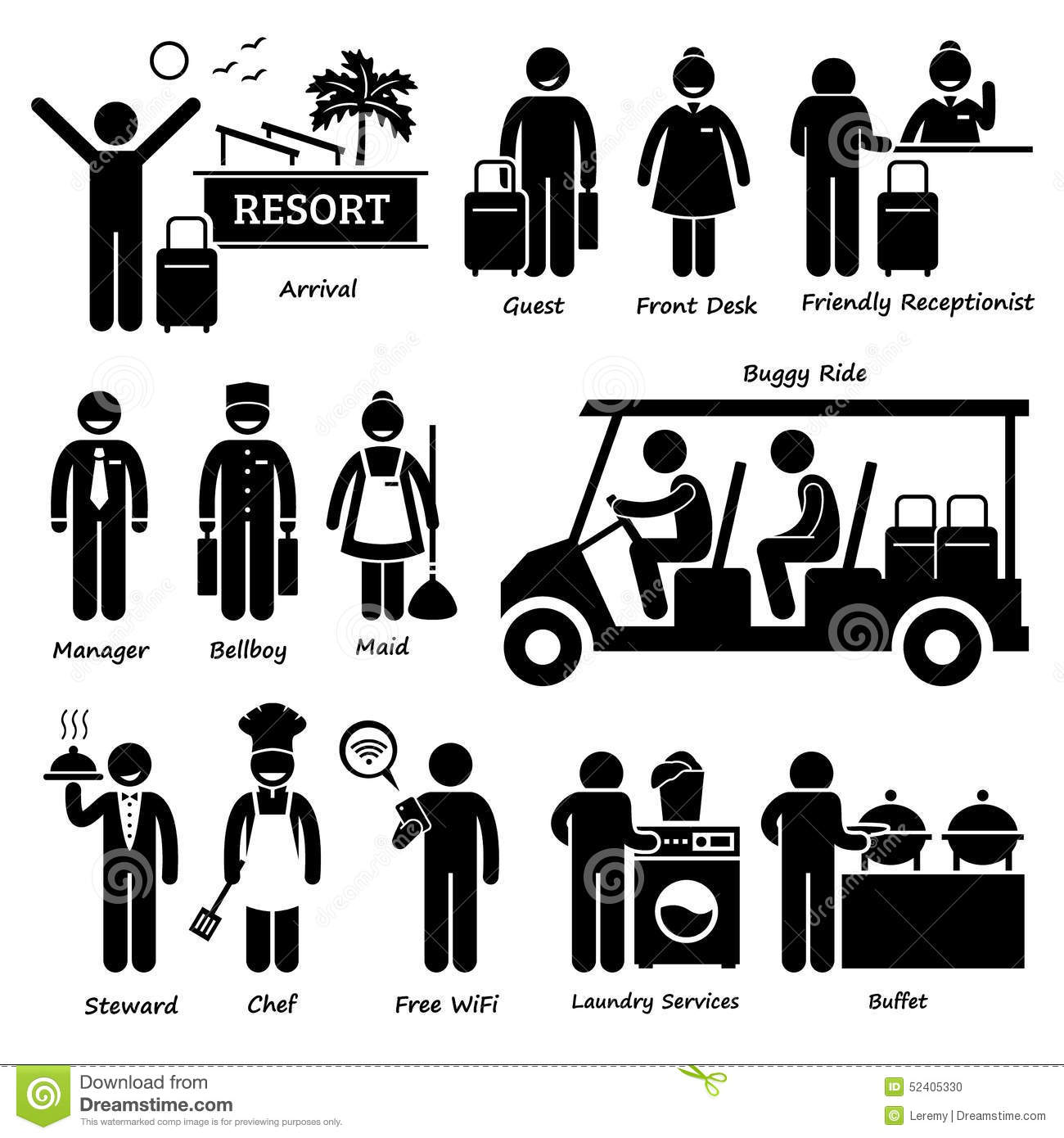 Showing post & media for Hospitality clip art cartoon.