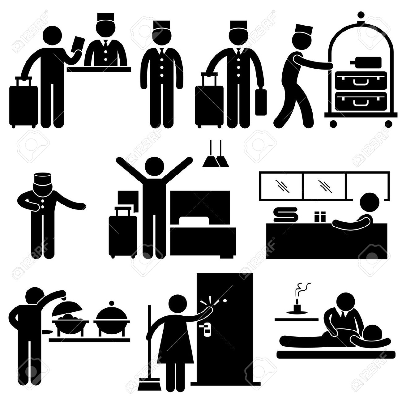 Hotel Industry Clipart.