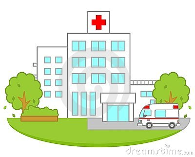 Cartoon Hospital Clip Art.