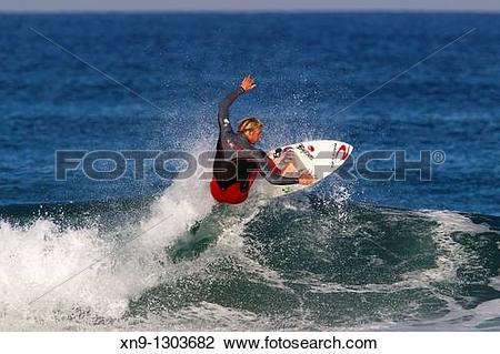Stock Photo of Surfer in Hossegor, Quiksilver Pro France, South.