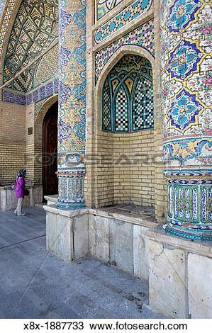 Stock Photo of Imamzadeh Hossein Mausoleum, Qazvin, Iran x8x.