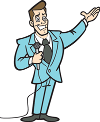 Clipart game show host.