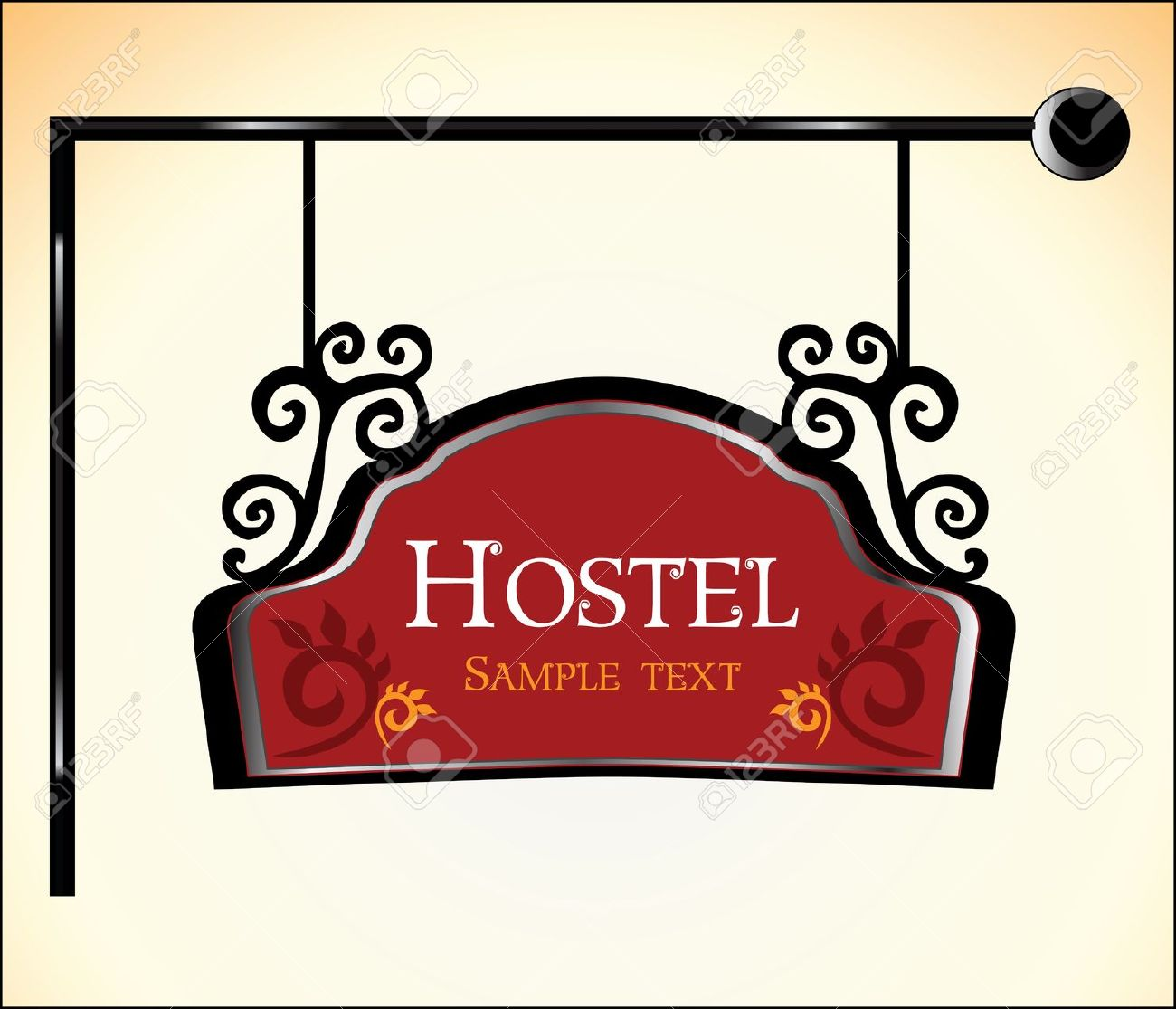 Hostel Sign Royalty Free Cliparts, Vectors, And Stock Illustration.