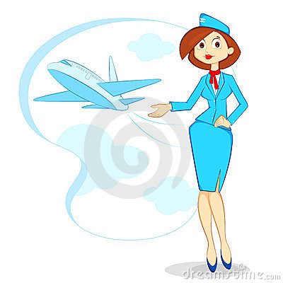 Air hostess clipart.
