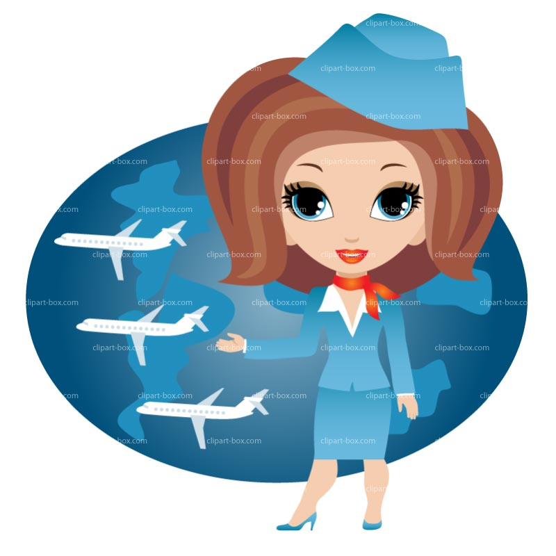 Air hostess clipart.
