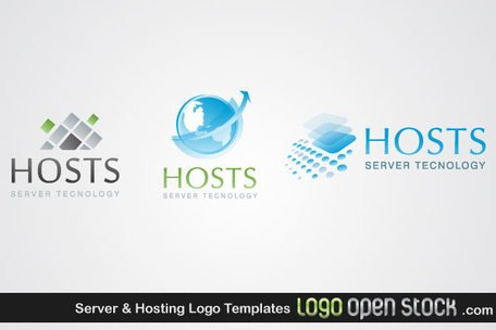 Free Server & Hosting Logo Templatess Clipart and Vector.