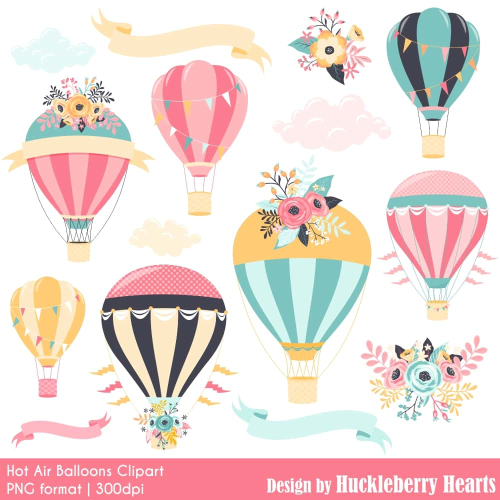 Hot Air Balloons Clipart.