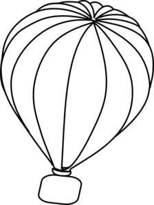 Hot Air Balloon Clip Art Black And White.