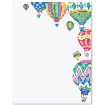 Hot Air Balloon Letter Paper.