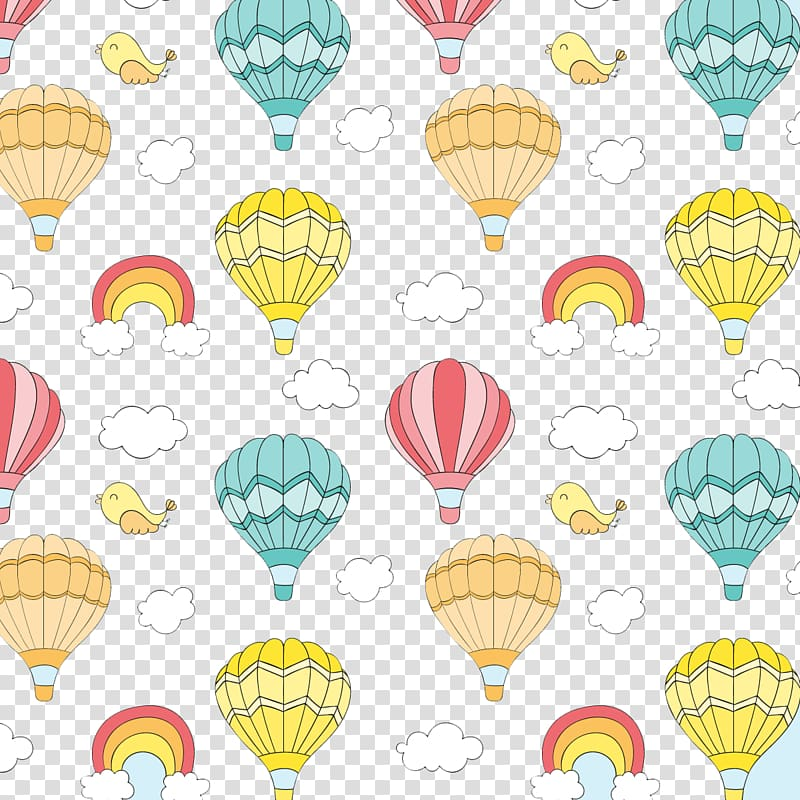 Multicolored hot air balloon illustration, Hot air balloon.